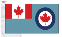 Canada Air Force RCAF Ensign Courtesy Boat Flags (Roped and Toggled)